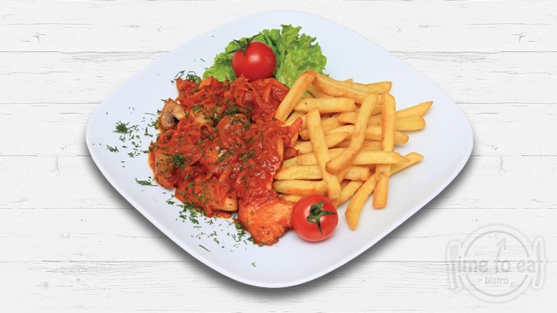 Chicken Breast With Red Sauce
