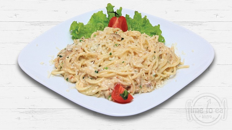 Spaghetti With Pork And Cheese